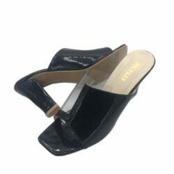 Shiny Block Heels